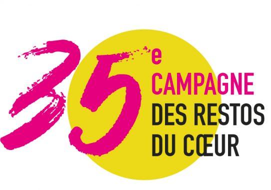 35ème campagne des Restos du Coeur dès le 26/11/2019 Logo_35e_campagne_rond_jaune-542x380